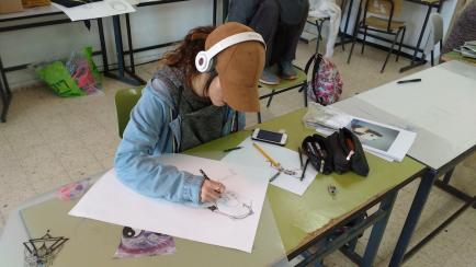 תמונות מפעילות מגמת אמנות