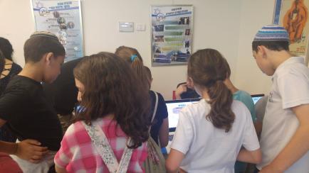 פעילות תלמידים באירוע גמר תחרות משחקים 70
