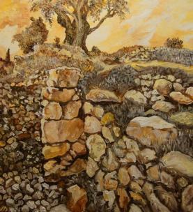 חומות חברון מתקופת הברונזה .צייר -שמואל מושניק